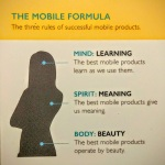 The Mobile Formula: three rules of successful mobile products